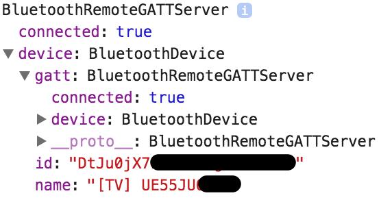 Web Bluetooth API Privacy