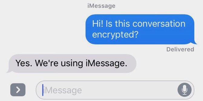 Image result for imessage encryption